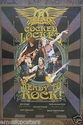 "AEROSMITH ""COCKED, LOCKED, READY TO ROCK!"" POSTER FROM ASIA - Heavy Metal Music"