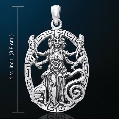 Triple Goddess Jewelry Hecate Hekate Pendant Pagan Wiccan Necklace #WZPD3179