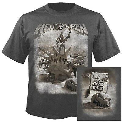 HELLOWEEN - My god - given right GREY  T-Shirt