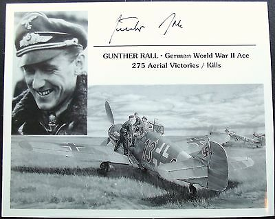 Gunther Rall German World War II Fighter Ace 275 Victories Signed Photograph