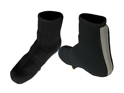 Shoe Covers Neoprene Bevato 4 Sizes Black with Reflective Strip BCS-001