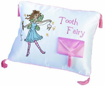 """Lillian Rose Tooth Fairy Embroidered Pillow, 12"""" x 9"""" New"""