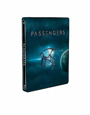 PASSENGERS Jennifer Lawrence STEELBOOK Special Edition BLURAY NEW .cp