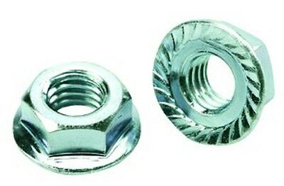 """1/4""""-20 - Serrated Hex Flange Nuts, Coarse, Zinc Plated  (50 pcs) Free Shipping"""