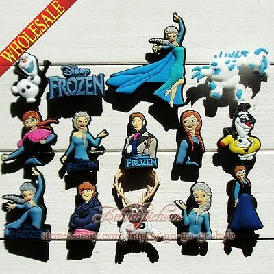 Lots of Elsa/Anna/Olaf Shoe Charms/Shoe Buckle Fit for Jibz Bracelets Party Gift