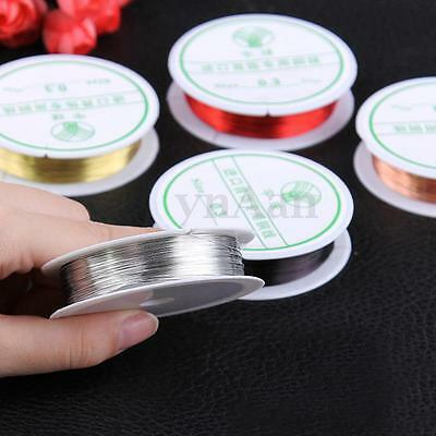 0.3/0.4/0.6/0.8mm Copper Wire Jewellery Tiara Making Beading Wrapping Thread DIY