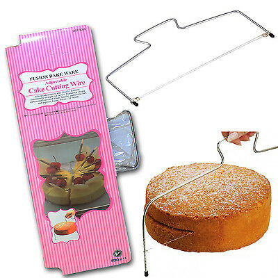 Cake Cupcake Wire Cutter Straight Edge Leveller Decorating Slicer Cutting Tool