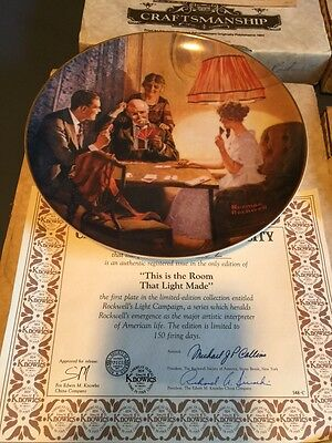Norman Rockwell- Light CampaignSeries (6plates) Mint Condition with COA