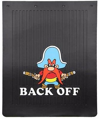 yosemite sam tractor trailer diesel mudflap semi back off truck mud flap 24x30