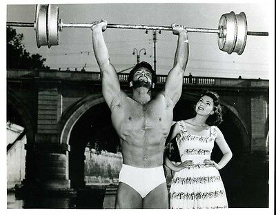 "Steve Reeves 8x10"" Photo Sexy Barechested Hercules #Z1304"