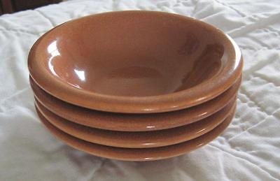 "Four Russel Wright Sterling Cedar Brow 5"" Fruit Bowls"