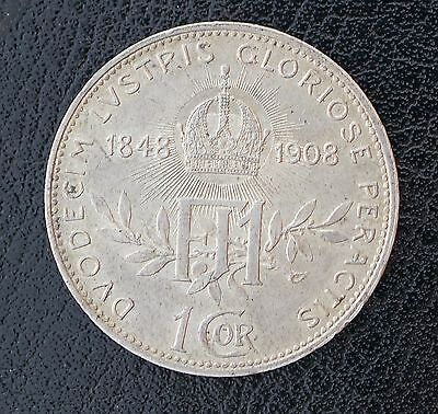 1908 Austria Corona KM# 2808 Silver Commemorative Coin 60th Anniversary of Reign