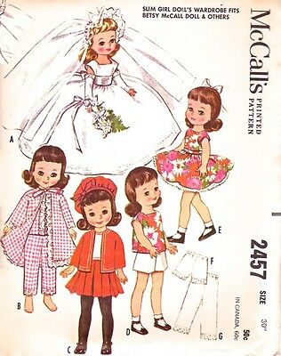 McCalls 2457 Vintage Doll Clothes Pattern Betsy McCall  Uncut - Original