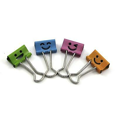 5pcs Creative Cartoon Cute Smile Face Office Home File Paper Metal Binder Clips