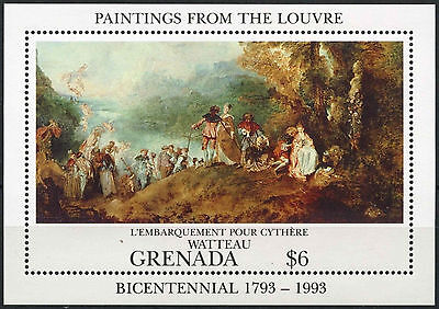 Grenada 1993 SG#MS2498 Louvre Paintings MNH M/S #A88375