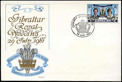 Gibraltar 1981 Royal Wedding FDC First Day Cover #C25430