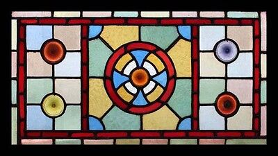 Amazing Victorian Rondels Antique English Stained Glass Window