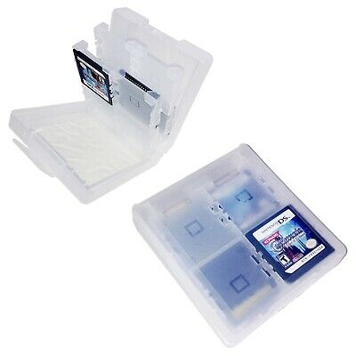 Clear 16-in-1 Game Card Carry Case For Nintendo DS DSi 3DS Cartridge Holder Box