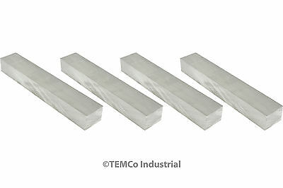 "TEMCo 4x 5/8 Inch 1""x6"" 6061 Aluminum Tooling Flat Sheet Plate Bar Mill Stock"