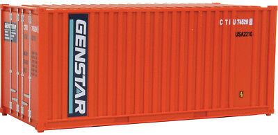 Walthers HO Scale 20' Ribbed-Side Shipping Intermodal Container Genstar