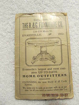1908 Needle Book Advertises R.& G. Furniture Co. Evansville IN Stoves and Ranges