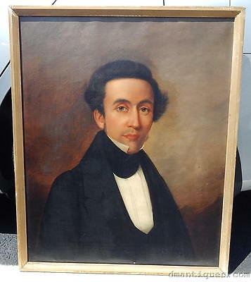1830's Oil on Canvas Portrait Timothy Ruggles GREEN Rhode Island Historical