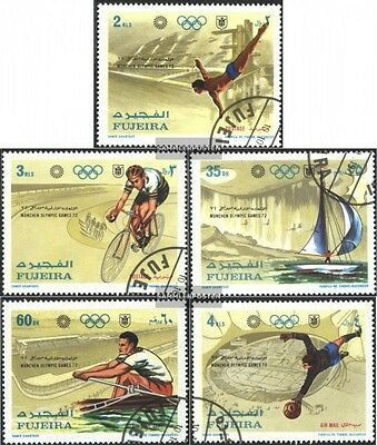 Fujeira 748A-752A gestempelt 1971 Olymp. Sommerspiele,