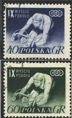 Polen 964-965 gestempelt 1956 Internationale Radfernfah