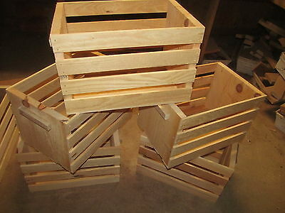 Rough Sawn Pine Wooden Crate ~18 X 12 X 12""