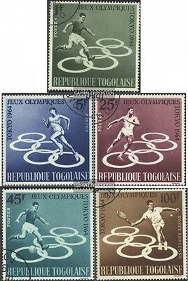 Togo 435A-439A gestempelt 1964 Olymp. Sommerspiele - To