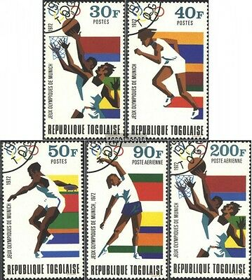 Togo 930A-934A gestempelt 1972 Olymp. Sommerspiele,Münc