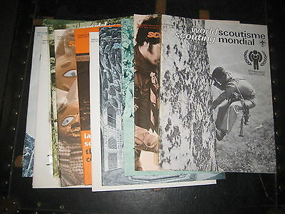 World Scouting magazine, 13 issues from 1976 to 1979