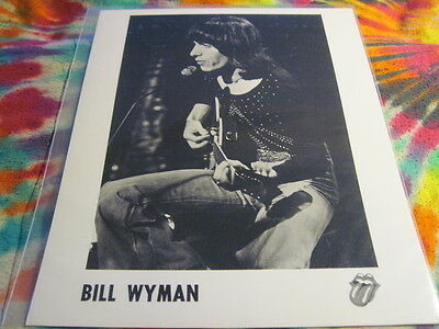 Rolling Stones / Bill Wyman - 8 X 10 - Rsr Promo Photo # 4 ------- K @@ L