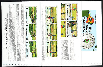 Isle Of Man 1997 Golf Set Of Booklet Panes Unmounted Mint, Mnh