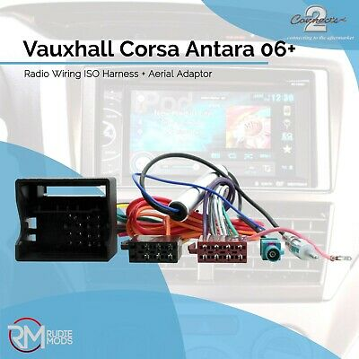 CAR STEREO AERIAL & ISO Wiring Harness Adapter for Vauxhall ... on radio block diagram, mitsubishi galant radio diagram, radio transmission diagram, radio harness diagram, 2005 mazda 6 radio diagram, circuit diagram, nissan 300zx diagram, radio schematic diagrams,
