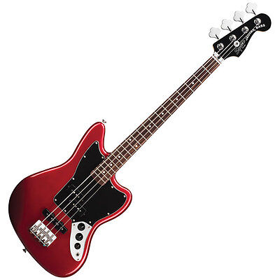 Fender Squier Jaguar Red Bass Special SS (Short Scale) Rosewood Fretboard