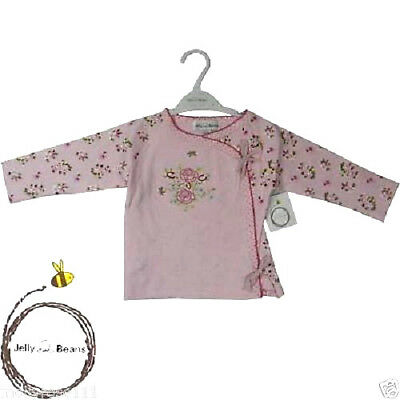 Baby Girls Pretty Jelly Bean Cotton Pink Rose Embroidered Top Jacket