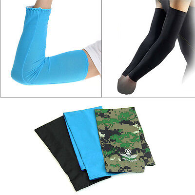 1 Pair Unisex Cooling Arm Sleeves Cover UV Sun Protection Outdoor Sports