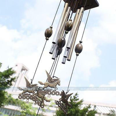 Funny Horse Wind Chimes 8 Tubes Yard Garden Outdoor Living 55cm Home Decor Gift