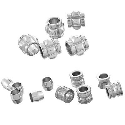 10PCs BD Stainless Steel Spacer Beads Silver DIY Jewelry Making