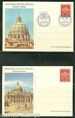 Vatican  City 1966 Postcard Mint & First Day Canceled