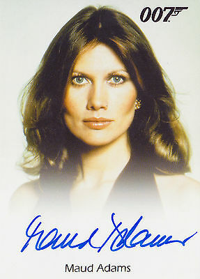 James Bond 2015 Archives Autograph Full Bleed Maud Adams