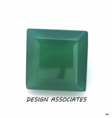 9 Mm Square Cut Natural Green Onyx  All Natural Aaa