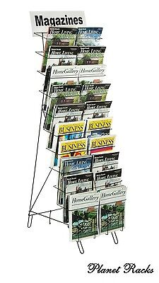 Planet Racks 10 Tier 20 Adjustable Pocket Wire Literature Display - Closeout
