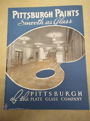Vtg Pittsburgh Plate Glass Co Catalog~Paints ~Painting Guide~Specifications~1939