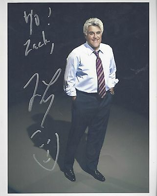 jay leno signed 8x10 autographed auto picture tonight show tv television photo
