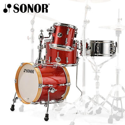 Sonor Special Edition SSE Martini 4pce Drum Kit Red Galaxy Sparkle Shell Set