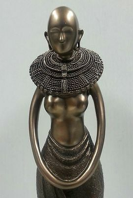 African Masai Maiden Statue Black Tribal Goddess Nomadic Woman Figurine #6555