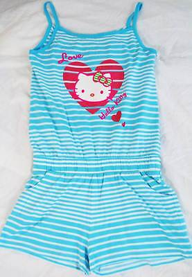 Hello Kitty girls Marks & Spencer cotton playsuit shorts romper new age 6 7 9