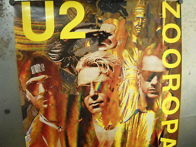 U2 Large 1993 PROMO POSTER from ZOOROPA Super Mint Condition FREE SHIP in USA